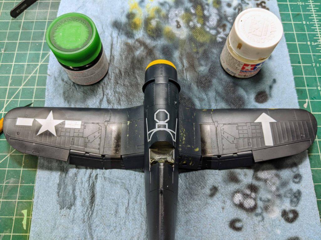 Tamiya F4U-1D Topside Painted