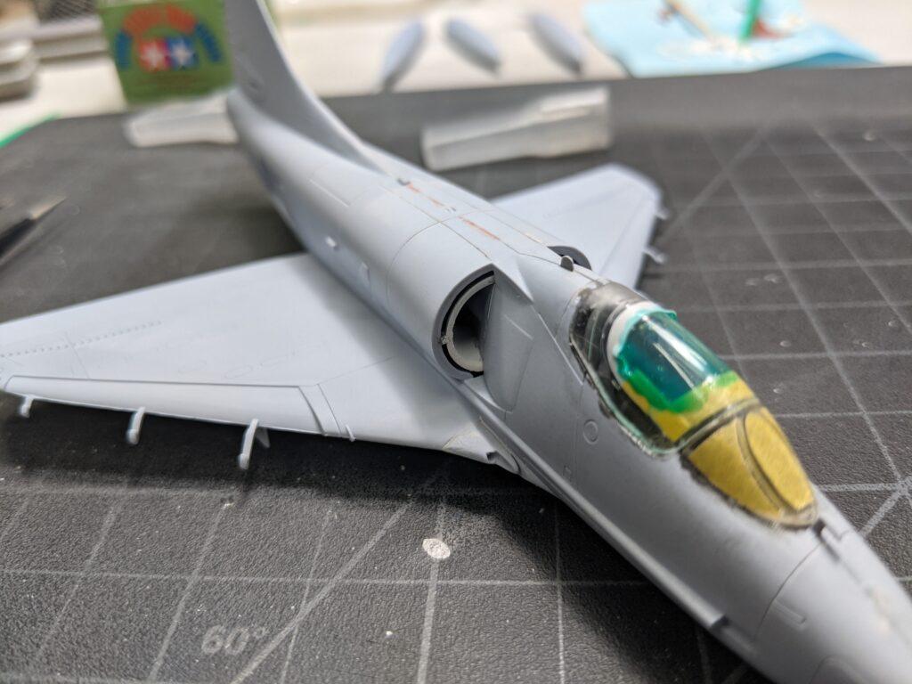 Airfix A-4B Skyhawk Intake Painted